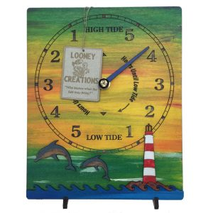 Dolphin and Lighthouse Tide Clock