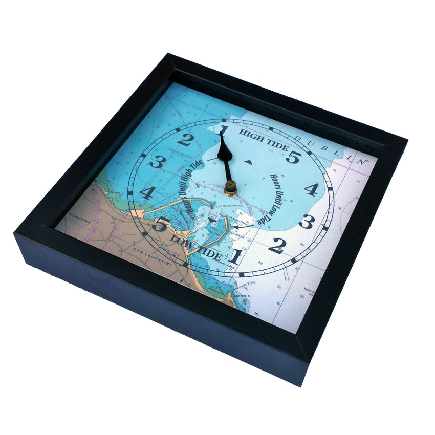 Spanish Point nautical chart tide clock