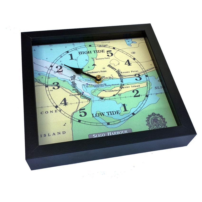 Sligo Harbour nautical chart tide clock