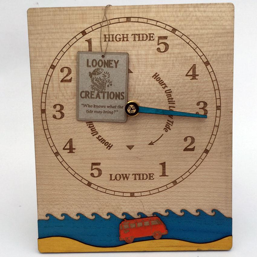 VW camper gift Tide Clock