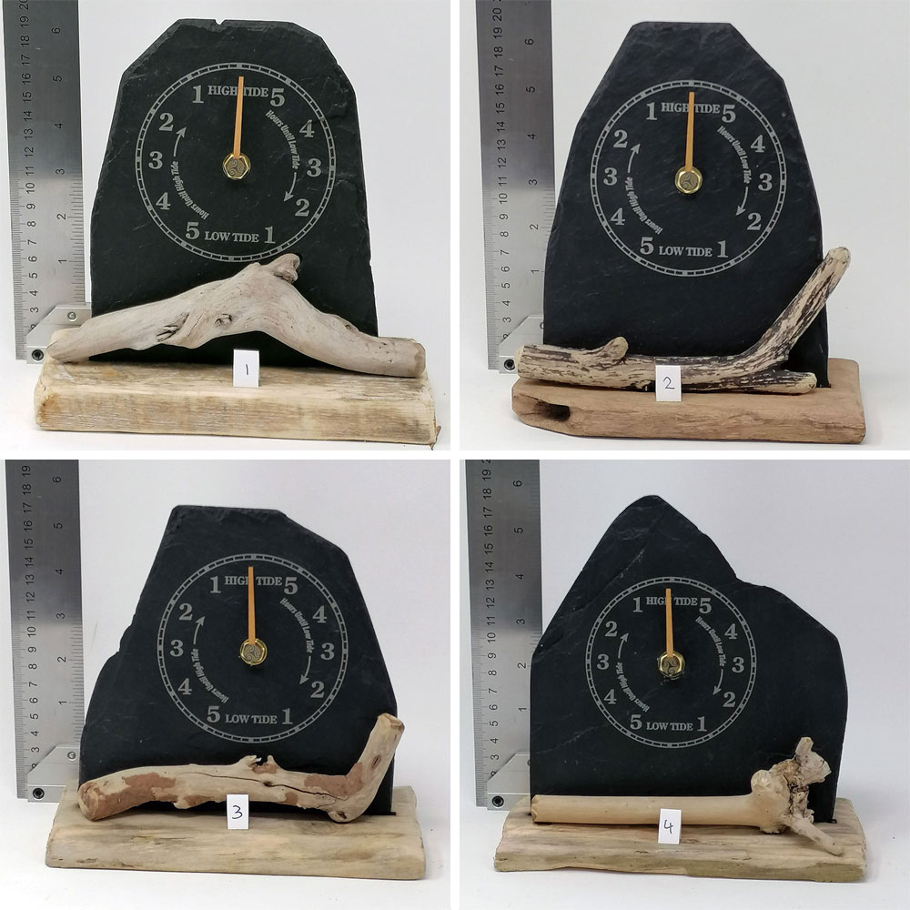 slate and driftwood tide clock selection