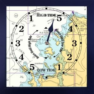 This elegant framed Admiralty nautical chart shows the islands of Gola, Owey and also Bloody Foreland