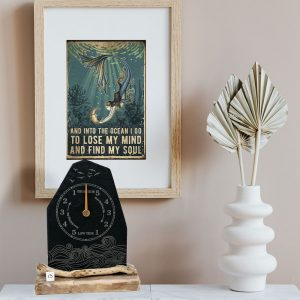 SLATE TIDE CLOCK ON MANTELPIECE